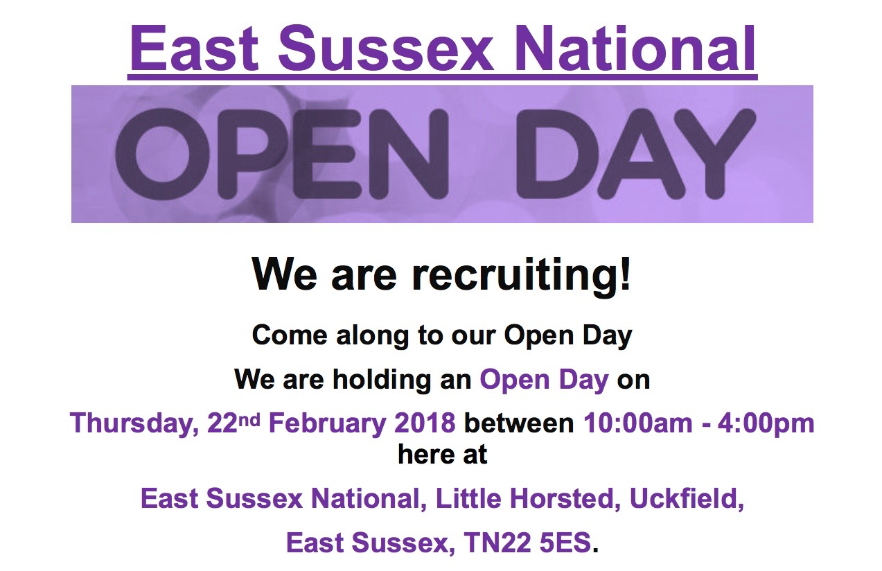 Recruitment open day at East Sussex National